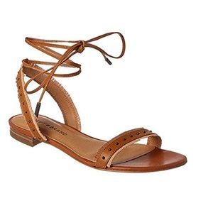 Lucky Brand Toree Tan Ankle Strap Boho Sandals S 9